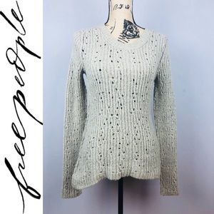 Free People Tan Sweater Size M